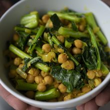 November means BROCCOLINI and a tasty little curried chickpea dish