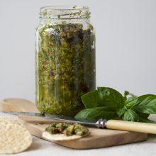 Fresh vegetables delivered, fresh summer smells and mmm…fresh BASIL!