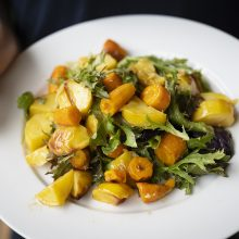 Got carrots and potatoes in your veg box? A sumptuous salad it is